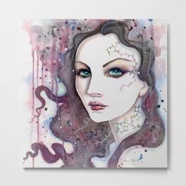 Sarah Fantasy Woman Modern Portrait by Molly Harrison Fantasy Art Metal Print