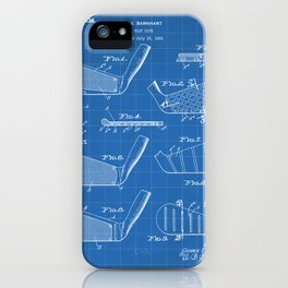 Golf Clubs Patent - Golfing Art - Blueprint iPhone Case