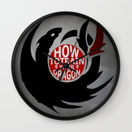 How To Train Your Dragon (Hiccup's Shield) Wall Clock