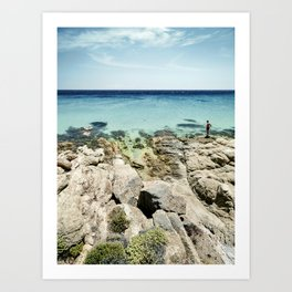 The Man and the Sea Art Print