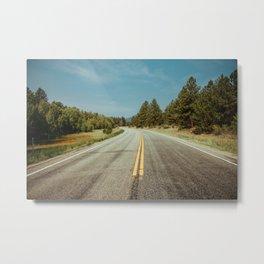 Winding road to the rocks Metal Print