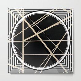 Crossroads - circle/line graphic Metal Print