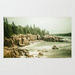 Acadia National Park Maine Rocky Beach Rug