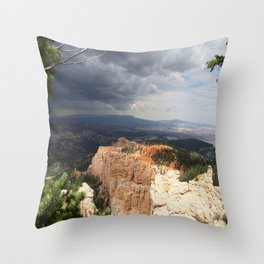 Dark Skies Over Bryce Canyon National Park Throw Pillow