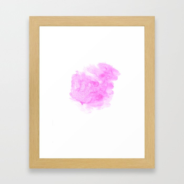 Pink watercolor abstract minimal modern painting perfect decor minimalist Framed Art Print