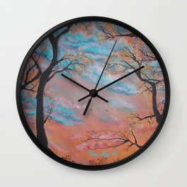 "Speculatur Omnia ""She Watches All"" Wall Clock"