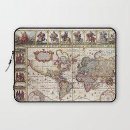 1652 Map of the World, Doncker Sea Atlas World Map Laptop Sleeve