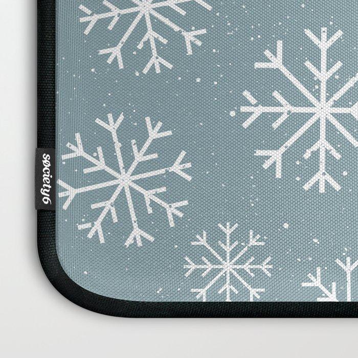 Snow Flakes Winter Laptop Sleeve