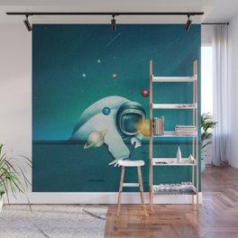 Astronaut Billards Wall Mural