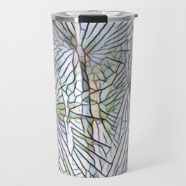 Abstract Palm, Palm Tree Design, White colorful palm, Travel Mug