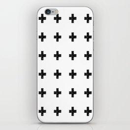 Watercolor Swiss Cross (White) iPhone Skin
