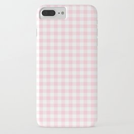 Light Soft Pastel Pink Cowgirl Buffalo Check Plaid iPhone Case