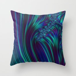 CRASH vivid jewel tones of sapphire blue & emerald green Throw Pillow