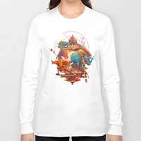stone Long Sleeve T-shirts featuring rhinos stone by Tanya_tk