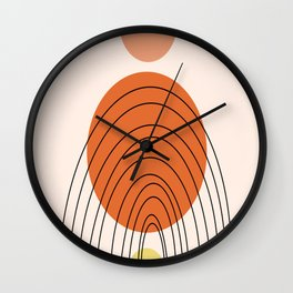Modern shapes Wall Clock