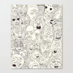 Faces of Math (no color edition)  Canvas Print