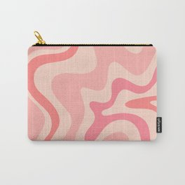 Liquid Swirl Abstract in Soft Pink Carry-All Pouch
