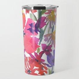 Little Pink Poppies Travel Mug