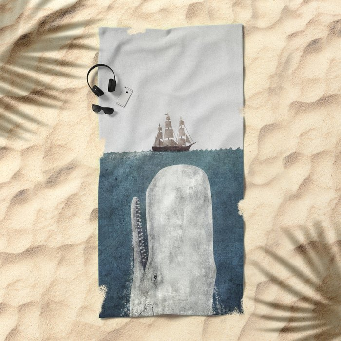 The Whale - vintage  Beach Towel