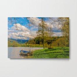 Boat on Water Metal Print