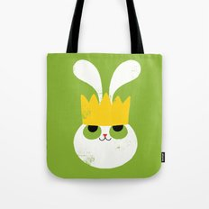 Rabbit King Tote Bag