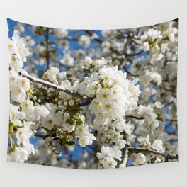 White Blossoms Photography Print Wall Tapestry