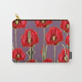 ART NOUVEAU RED POPPIES PUCE ART Carry-All Pouch