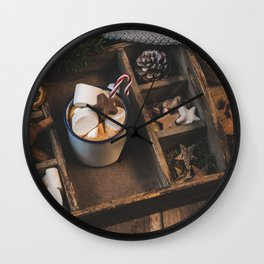 Plate of delicacies Wall Clock