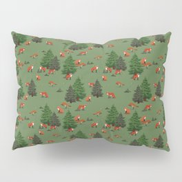 Foxes in the forest Pillow Sham