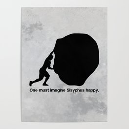 Camus - Sisyphus Poster