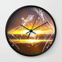 The Beauty of a Sunset Wall Clock