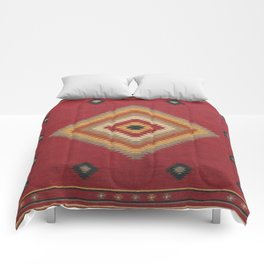 (N14) Red Anthropologie Oriental Moroccan Traditional Artwork. Comforters