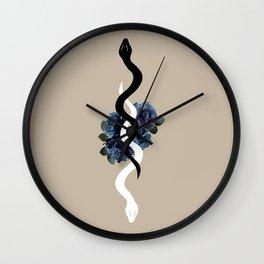 Yin Yang Snake Glam #1 #wall #art #society6 Wall Clock