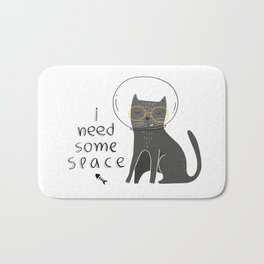 Catty needs space Bath Mat