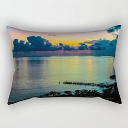 Sunrise at Riu Caribe Cancun Mexico Rectangular Pillow