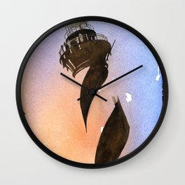 Painting w/ faux photo borders of Cape Hatteras lighthouse- Outer Banks, North Carolina Wall Clock