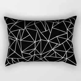 Abstraction Outline Black and White Rectangular Pillow