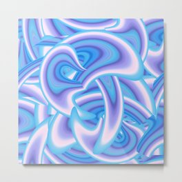 Abstract ornament with fantasy waves Metal Print