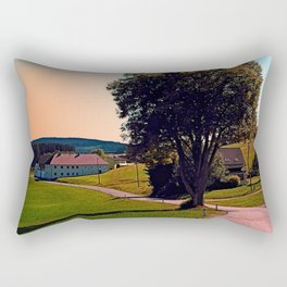 A tree, a road and summertime Rectangular Pillow