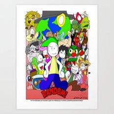 RANDOM Comic Promo Poster  Art Print