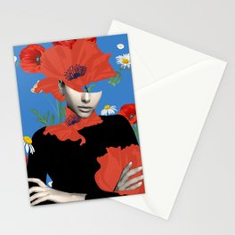 Poppy / Floral Portrait Stationery Cards