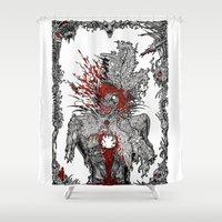 mad hatter Shower Curtains featuring Mad Hatter by Mongolizer