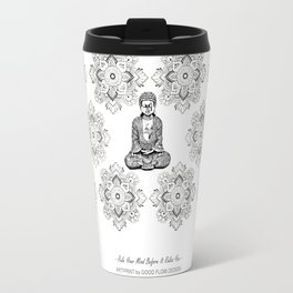 """""""Rule Your Mind Before It Rules You"""" Wise Words and Quote on Yoga, Fitness Outfits and Leggings Travel Mug"""