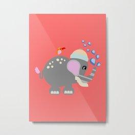 Baby Elphant Metal Print