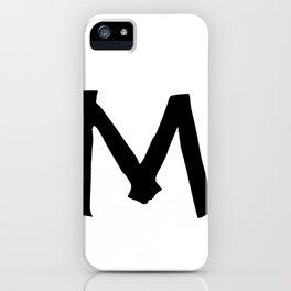 M Monogram (Hand 2) iPhone Case