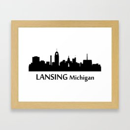 Lansing Michigan Cityscape Framed Art Print