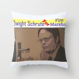 Fire Marshal Throw Pillow
