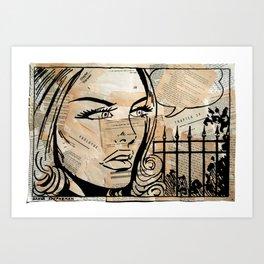 Blank Comics , Hot Girl Art Print