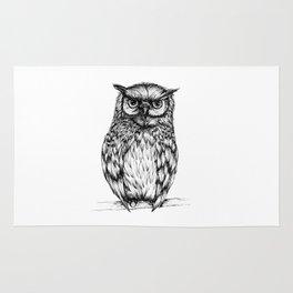 Inked Owl Rug