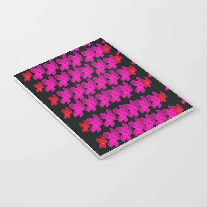 raining paradise flowers in the moon light night Notebook